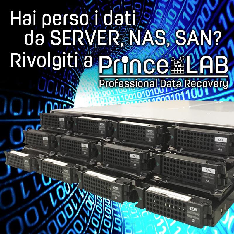 Recupero Dati URGENTE Server, NAS, SAN • PrinceLAB Professional Data Recovery •